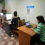 обучение слабовидящих подопечных отделения дневного компьютерной грамотности
